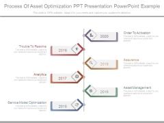 Process Of Asset Optimization Ppt Presentation Powerpoint Example
