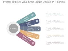 Process Of Brand Value Chain Sample Diagram Ppt Sample