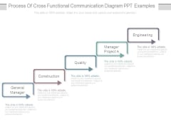 Process Of Cross Functional Communication Diagram Ppt Examples