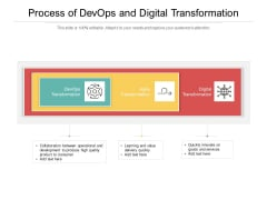 Process Of Devops And Digital Transformation Ppt PowerPoint Presentation Infographics Guidelines PDF
