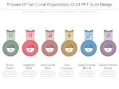 Process Of Functional Organization Chart Ppt Slide Design
