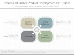 Process Of Global Product Development Ppt Slides