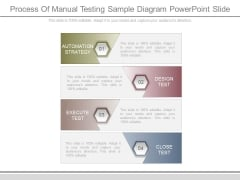 Process Of Manual Testing Sample Diagram Powerpoint Slide