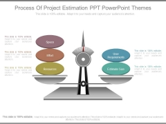 Process Of Project Estimation Ppt Powerpoint Themes