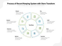 process of record keeping system with store transform ppt powerpoint presentation portfolio template