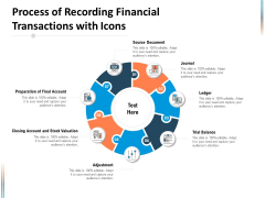 Process Of Recording Financial Transactions With Icons Ppt PowerPoint Presentation Show Slideshow