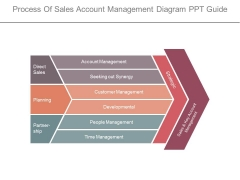 Process Of Sales Account Management Diagram Ppt Guide