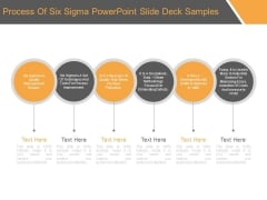 Process Of Six Sigma Powerpoint Slide Deck Samples