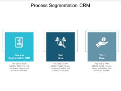Process Segmentation CRM Ppt PowerPoint Presentation Ideas Sample Cpb
