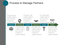 Process To Manage Partners Ppt PowerPoint Presentation Good