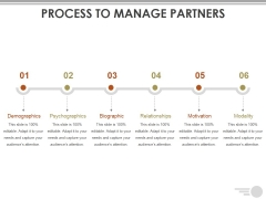 Process To Manage Partners Ppt PowerPoint Presentation Layouts Topics