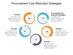 Procurement Cost Reduction Strategies Ppt PowerPoint Presentation Layouts Templates Cpb Pdf