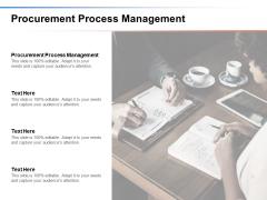 Procurement Process Management Ppt PowerPoint Presentation Slides Design Templates Cpb