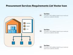 Procurement Services Requirements List Vector Icon Ppt PowerPoint Presentation Outline Graphic Tips PDF