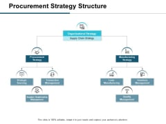 Procurement Strategy Structure Ppt PowerPoint Presentation Icon Model