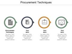 Procurement Techniques Ppt PowerPoint Presentation File Vector Cpb