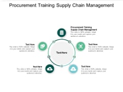 Procurement Training Supply Chain Management Ppt Powerpoint Presentation Icon Portfolio Cpb