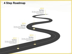 Producing Video Content 4 Step Roadmap Ppt Model Structure PDF