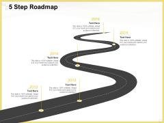 Producing Video Content 5 Step Roadmap Ppt Show Topics PDF