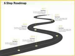Producing Video Content 6 Step Roadmap Ppt Pictures Background Designs PDF