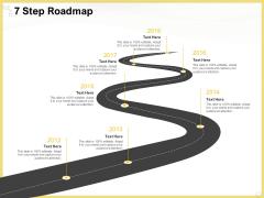 Producing Video Content 7 Step Roadmap Ppt Portfolio Template PDF