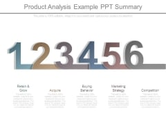 Product Analysis Example Ppt Summary