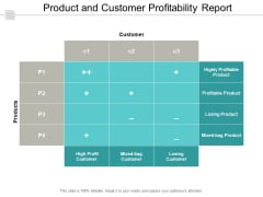 Product And Customer Profitability Report Ppt PowerPoint Presentation Portfolio Picture
