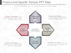 Product And Specific Sample Ppt Slide