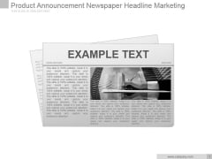 Product Announcement Newspaper Headline Marketing Ppt PowerPoint Presentation Slide Download