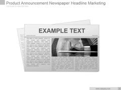 Product Announcement Newspaper Headline Marketing Ppt PowerPoint Presentation Slide Download