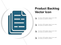 Product Backlog Vector Icon Ppt PowerPoint Presentation Ideas Slide Download