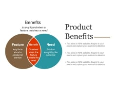Product Benefits Ppt PowerPoint Presentation Layouts Example Introduction