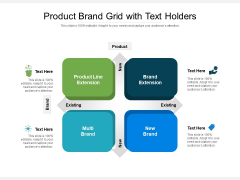 Product Brand Grid With Text Holders Ppt PowerPoint Presentation File Formats PDF