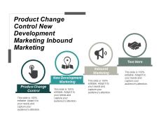 Product Change Control New Development Marketing Inbound Marketing Ppt PowerPoint Presentation Portfolio Background