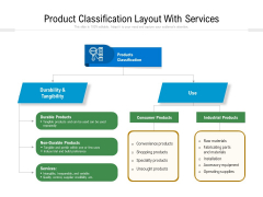 Product Classification Layout With Services Ppt PowerPoint Presentation File Model PDF