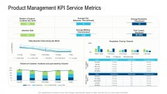 Product Commercialization Action Plan Product Management Kpi Service Metrics Ppt Outline Graphics Example PDF