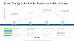Product Commercialization Action Plan Product Strategy For Introduction Growth Maturity Decline Stages Ppt Ideas Graphics Download PDF