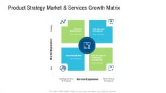 Product Commercialization Action Plan Product Strategy Market And Services Growth Matrix Ppt Gallery Templates PDF