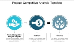 Product Competitive Analysis Template Ppt Powerpoint Presentation Infographics Summary Cpb