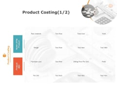 Product Cost Management PCM Product Costing Raw Ppt Show Example File PDF
