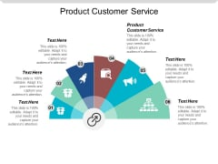 Product Customer Service Ppt Powerpoint Presentation Professional Files Cpb