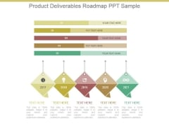 Product Deliverables Roadmap Ppt Sample
