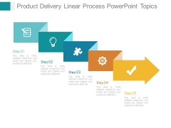 Product Delivery Linear Process Powerpoint Topics