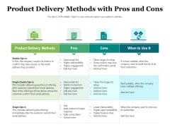Product Delivery Methods With Pros And Cons Ppt PowerPoint Presentation File Example Introduction PDF