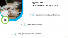 Product Demand Administration Agenda For Requirement Management Ideas PDF