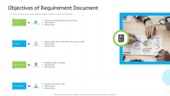 Product Demand Administration Objectives Of Requirement Document Portrait PDF