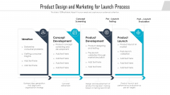 Product Design And Marketing For Launch Process Ppt Model Tips PDF