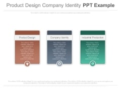Product Design Company Identity Ppt Example