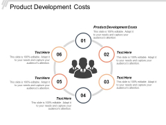 Product Development Costs Ppt Powerpoint Presentation File Guide Cpb
