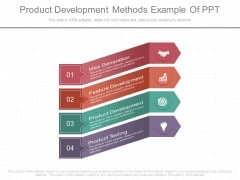 Product Development Methods Example Of Ppt